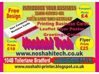 Print Business cards Leaflets Flyer Cheap Local Bradford Printing single double side full color