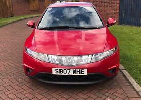 (07) Honda Civic SE 1.8 I-Vtec Red Petrol 1799cc MOT 2018