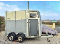 Bockmann (not Ifor Williams) Horse Trailer (Horse Box). Excellent, German lightweight double trailer