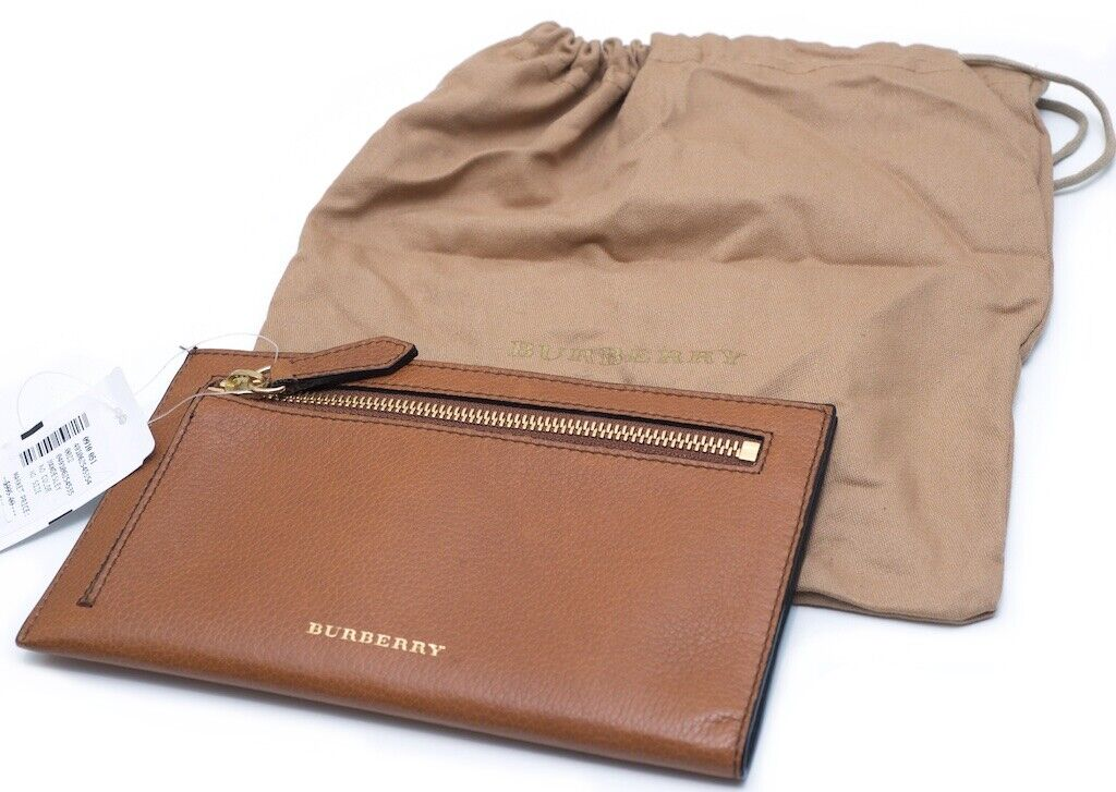 NWT Authentic Burberry Leather Passport Document Holder Travel Wallet Dust-bag - $495.00