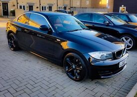 BMW 1 series 118D COUPE 2011 Black Coral Red Leather Seats(Heated) iDrive SatNav MOT/Service History