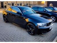 BMW 118D Coupe 2011 Sport Black Coral Red Leather Seats (eHeated) iDrive SatNav MOT/Service History