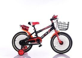 new 14inch kids bikes with stabilisers blue or red