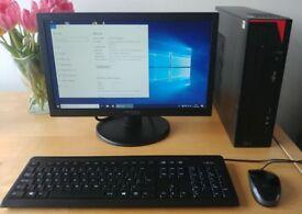 FUJITSU E420 full desktop PC with monitor