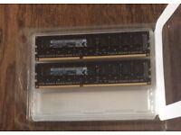2 X Micron 4GB PC3 14900 DDR3-1866MHz ECC Unbuf CL13 240 GENUINE APPLE RAM (8GB TOTAL)