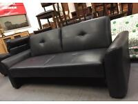 ** BLACK BED SETTEE FOR SALE **