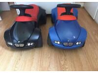 Two Ride-on BMW black and blue colour