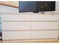 chest of 6 drawers, ikea KULLEN white