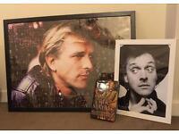 Rik Mayall collectors frames and book