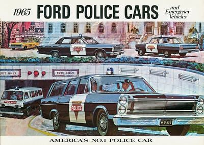 1965 FORD Police Car PHOTO Vintage Ad Policeman Pursuit Vehicles