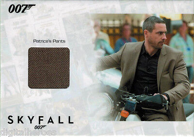 James Bond 007 Autograph & Relic Skyfall SSC7 Costume Card Ola Rapace as Patrice - Skyfall Costumes