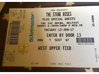 The Stone Roses - SSE Arena, Belfast - 2 seated tickets