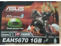 ASUS EAH 5670 PCIE 1024Mb GPU