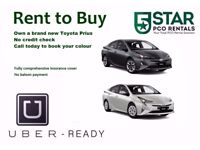 PCO CAR HIRE or RENT2BUY WITH INSURANCE – TOYOTA PRIUS