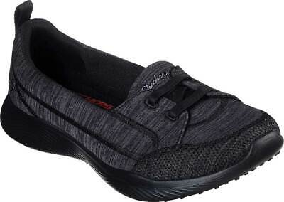 NEW Womens SKECHERS Microburst 2.0 Best Ever Black KNIT FABRIC Slip On