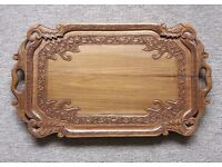 Drinks tray - Hand carved wood
