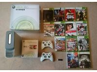Xbox 360 (60gb) with 2 wireless controllers and 13 games
