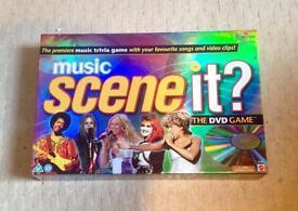 SCENE IT MUSIC DVD BOARD GAME TRIVIA MATTEL 2006. COMPLETE AND GOOD CONDITION.