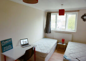Zone2. only 2 weeks deposit. Twin bedroom ready now. Canary wharf, Docklands, Crossharbour.