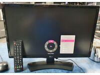 LG 22 Full HD LED 1080P Monitor / TV Model 22TK410V With Remote + 6 Month Warranty. Ref: LG22TVMON