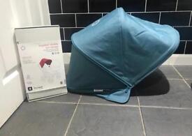 Like new Bugaboo donkey petrol blue extendable hood £40