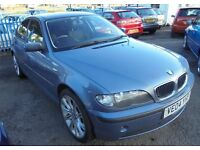 BMW 318i SE 1796cc 4 DOOR SALOON 2004-04 FINISHED IN METALIC BLUE, PART SERVICE HISTORY,