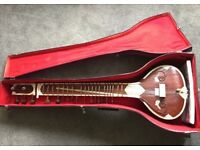 Ravi Shankar Style Bina Sitar, Soft Leather Case, Strings & Accessories. TRADE FOR A GUITAR AMP!