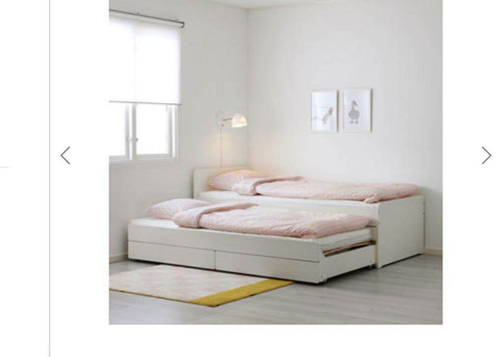 Bed Frame With Underbed And Storage Sl 196 Kt Ikea In