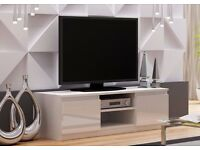 WHITE-GLOSS-TV-Cabinet-TV-Unit-Entertainment-Stand-120cm-Modern-NEW