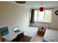 Well presented twin bedroom ready now. Canning town. Must see!!