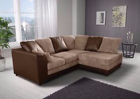 """SAME DAY FAST DELIVERY"""""""""""""""" Brand New """""""""""""""" Byron 3 nd 2 sofa or corner sofa in jumbo cord fabric"""