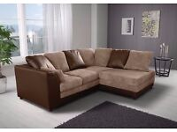 "SAME DAY FAST DELIVERY Brand New """" Byron 3 nd 2 sofa or corner sofa in jumbo cord fabric"