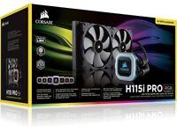 Corsair H115i PRO 280mm RGB AIO Intel/AMD CPU Water Cooler