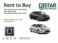 RENT TO BUY WITH INSURANCE OR PCO CAR HIRE– TOYOTA PRIUS