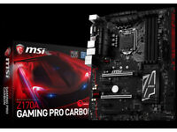 Motherboard MSI Z170A Gaming Pro Carbon NEW! Mint