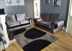BRAND NEW VELVET SOFA'S, AVAILABLE AS A 3+2 SET OR CORNER SUITE ***UK DELIVERY AVAILABLE