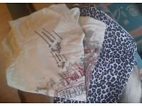 His & Hers Bundle-Leopard Print Ladie's Top (M/L) & Yellow Topman T-Shirt (M) - Great Value only £5