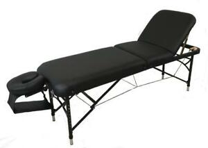 Table de massage 3 sections aluminium NATURA*