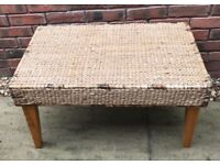NEXT Cane Wicker Rattan Conservatory Coffee Table With Pine Legs