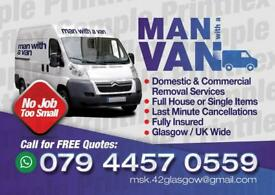 Removals from £15 call 07480526654 man with van