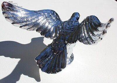Chrome Flying Eagle Hood Ornament Custom Truck Hot Rat Street Rod Chevy Pickup