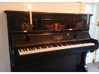 FREE! Lovely Edwardian upright piano with candle sconces