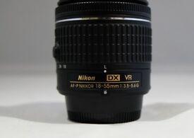 nikon dx vr nikkor af-p 18-55mm/ 3.5-5.6G kit lens