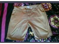 Mens labretta cream chino shorts 42 inch waist