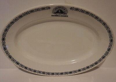 Shenango China Restaurant Service Ware  Platter Jamaica NY  Chamber of Commerce