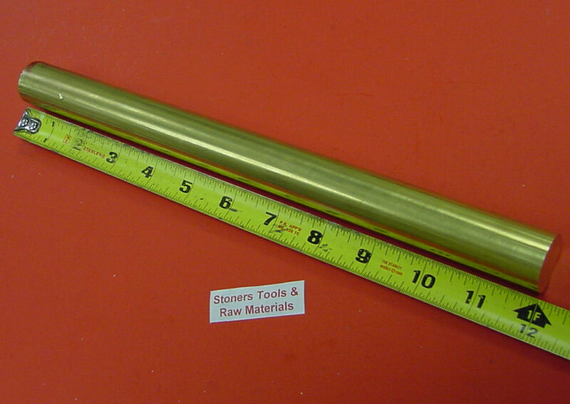 "7/8"" C360 BRASS SOLID ROUND ROD 12"" long New Lathe Bar Stock .875"" 1/2 Hard"