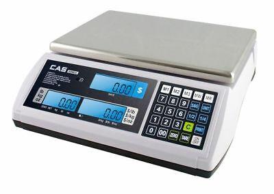 Cas S2000jr 30lb X 0.005 Lb Ntep Price Computing Retail Scale Lcd Display