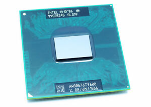 New Intel Core 2 Duo T9600 CPU 2.80GHz 6MB OEM SLG9F SLB47