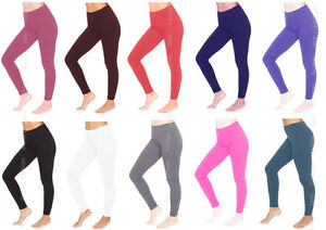 Womens-Full-Length-Stretchy-Cotton-Leggings-Sizes-6-24