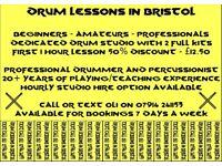 Drum Kit Lessons in Bristol with Professional Drummer/Teacher Oli Mason. 1st Full Lesson 50% Off